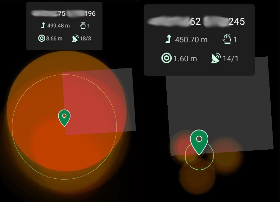 Doogee GPS precision vs mi11 GPS Accuracy