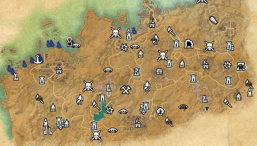 ESO fishing map Alikr Desert