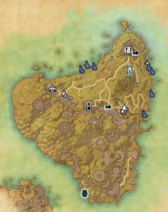 ESO fishing map Artaeum