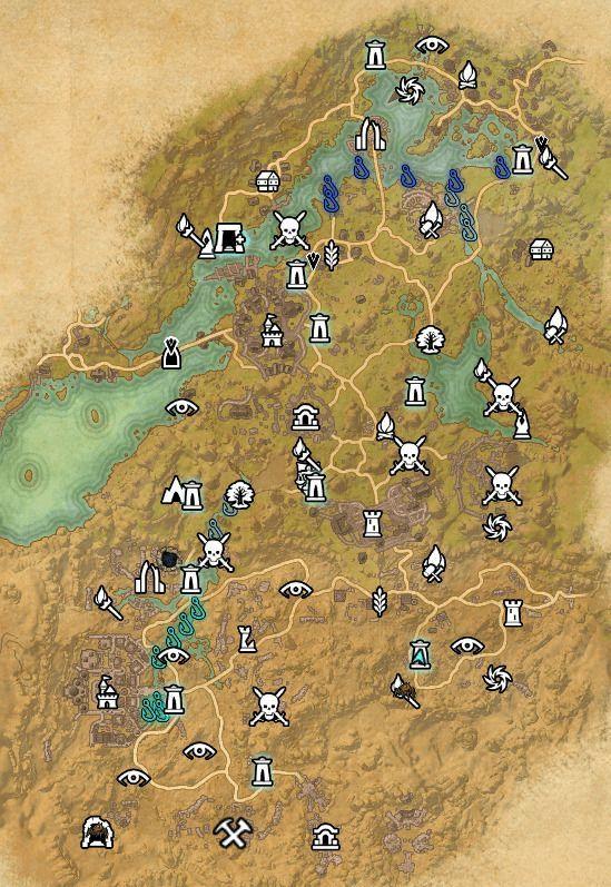 ESO fishing map Bangkorai