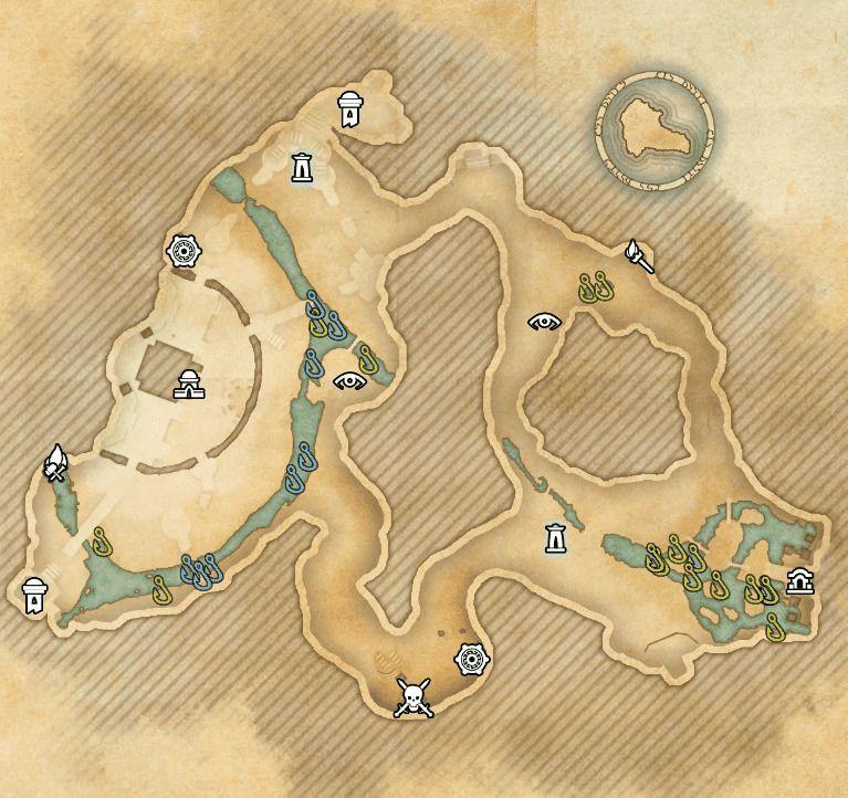 ESO fishing map Blackreach Arkthzand Cavern
