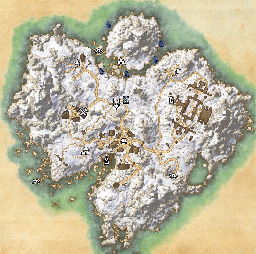 ESO Fishing Map Bleackrock