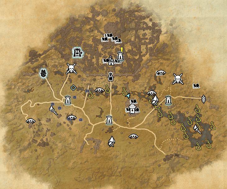 ESO fishing map Clockwork City