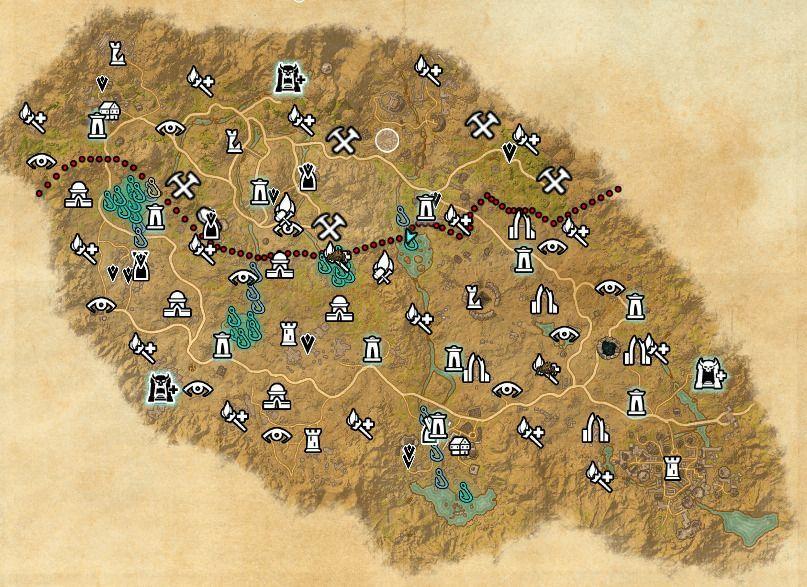 ESO fishing map Craglorn