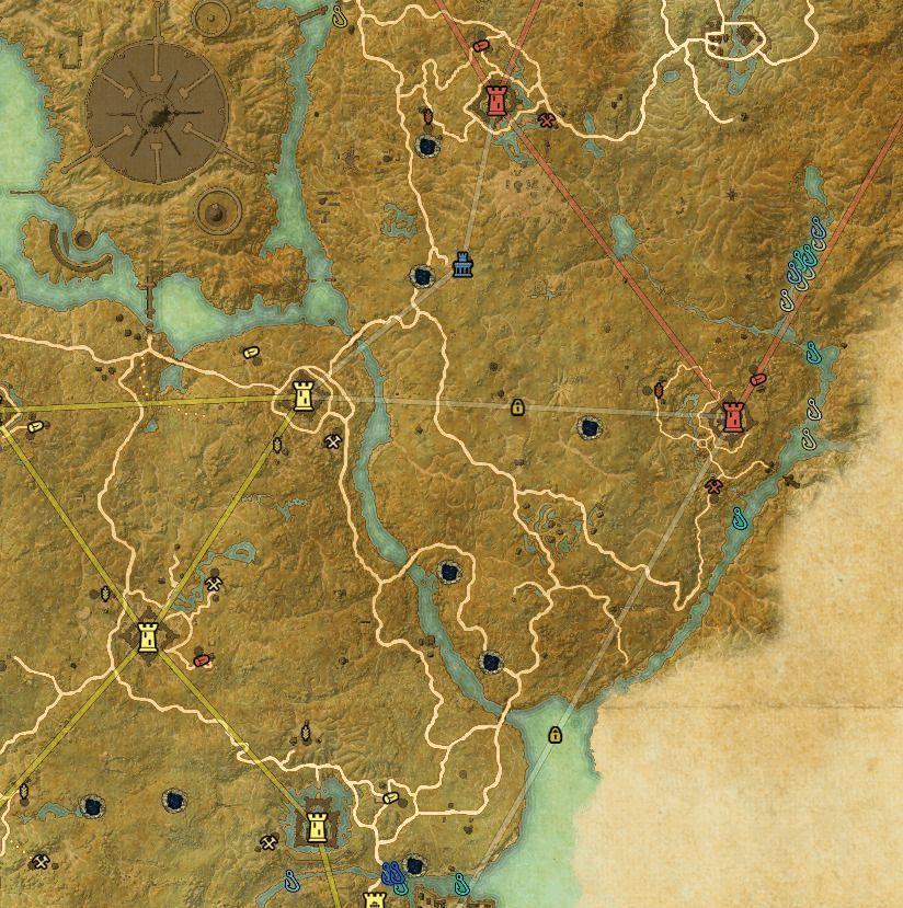 ESO fishing map Cyrodiil