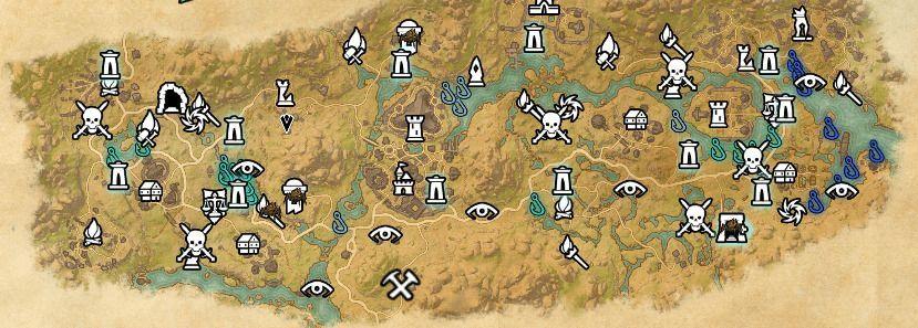 ESO fishing map Deshaan