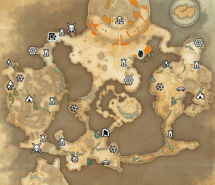 ESO fishing map Greymoor Caverns