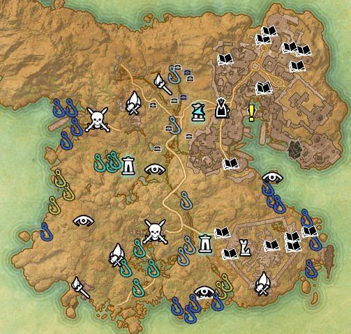ESO fishing map Hews Bane