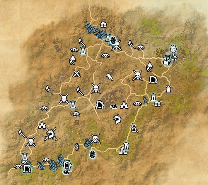 ESO fishing map Northern Elsweyr