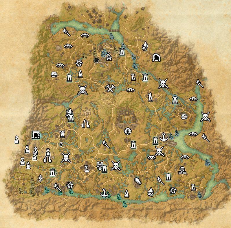 ESO fishing map Shadowfen