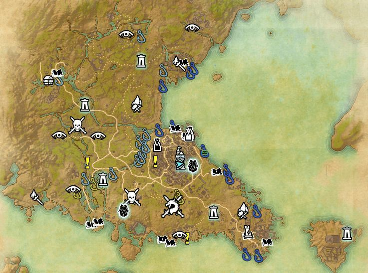 ESO fishing map Southern Elsweyr