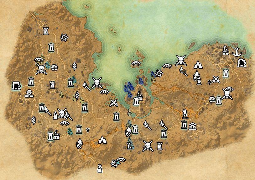 ESO fishing map Stonefalls