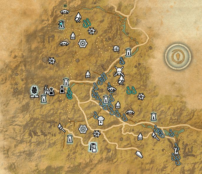 ESO fishing map The Reach