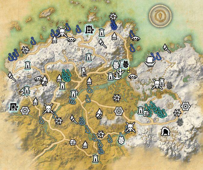 ESO fishing map Western Skyrim