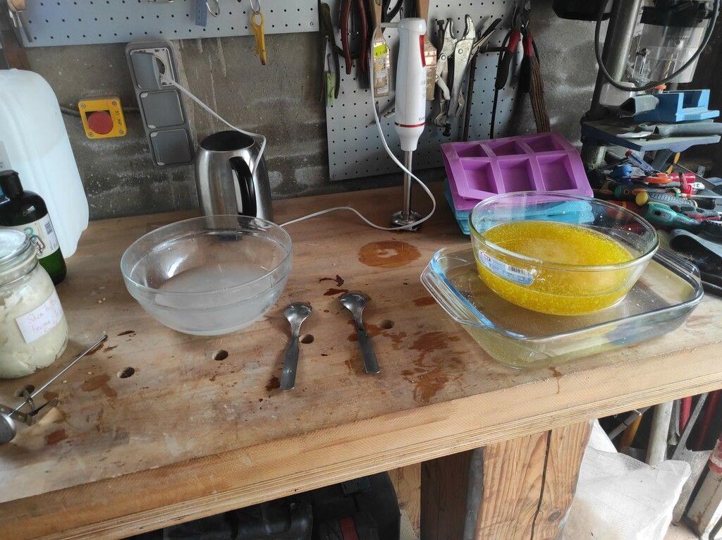 preparing the mixtures